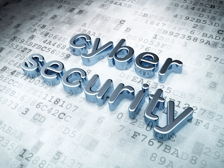 Privacy concept: Silver Cyber Security on digital background